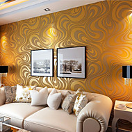 Contemporary Wallpaper Art Deco 3D Sprinkling Gold Abstraction Wallpaper Wall Covering Non-woven Fabric Wall Art