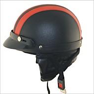 carking xt02 motocykl pu kožená helma (m)