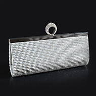 Women Bags Polyester Evening Bag with Crystal/ Rhinestone for Wedding Event/Party Gold Black Silver