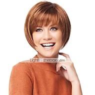 Sweet Fashionable Human Hair Capless Virgin Remy Short Straight Mono Top  Wigs
