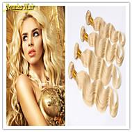 3 pièces / lot produits capillaires d'extension de cheveux blonds vierge brésilienne 613 vague de corps de cheveux de cheveux blonds,