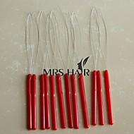12pcs mye multi-farge plast håndtak krok sløyfe threader for mikro sløyfe nano ring perler kald fusjon hair extensions