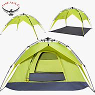 OSEAGLE® 3-4 personer Telt Dobbelt Automatisk Telt Et Værelse camping telt >3000 mmFugtsikker Vandtæt Åndbarhed Ultraviolet Resistent