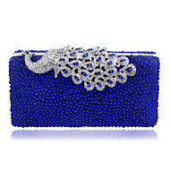 Women Polyester / Metal Minaudiere Clutch / Evening Bag - Blue