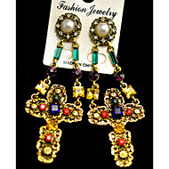 Earring Earrings Set Jewelry Women Party / Daily Alloy / Imitation Pearl / Rhinestone 1 pair Assorted Color