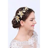 Dame Gull / Legering Headpiece Bryllup / Spesiell Leilighet / Avslappet Pannebånd Bryllup / Spesiell Leilighet / Avslappet 1 Deler