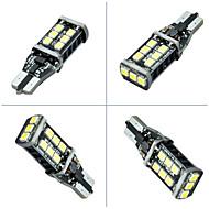 2pcs Ding Yao T10 2835 15smd Reversing light 400-600LM 6000K DC12V