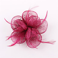 Handmade Sinamay  Feather Flower Brooch Fascinators  Headpiece (more colors)