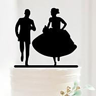 Kakepynt Ikke-personalisert Klassisk Par Akryl
