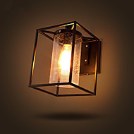 Loft North American Type Industrial Retro Wall Lamp Bar Coffee Shop Iron Lighting Restaurant Glass Box Wall Lights