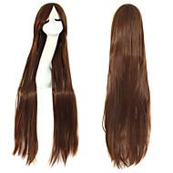 Cosplay Mode Must-Have Mädchen braune Qualitäts langen glatten Haaren Perücke