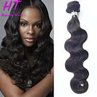 "1 Pcs/Lot 8""-26"" Brazilian Virgin Hair Body Wave Human Hair Extensions Unprocessed Brazilian Hair Weaves"