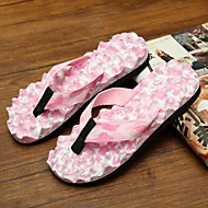 Women's Shoes PVC Flat Heel Flip Flops Slippers Outdoor Pink / Purple