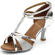 Sapatos de Dança (Preto/Castanho/Prateado/Dourado) - Mulheres - Customizáveis - Latim