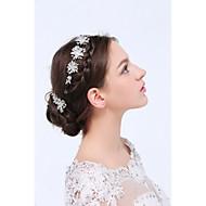 Mulheres Prata de Lei / Liga Capacete-Casamento / Ocasião Especial / Casual Bandanas / Clip para o Cabelo / Alfinete de Cabelo 3 Peças