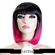 """neitsi 100% fibra kanekalon 14 """"(35cm) cosplay breve bob sintetico parrucche ombre ragazza delle donne 160g / pc"""