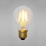 2W E14 / E26/E27 Žhavící žárovky A60(A19) 2 COB 200 lm Žlutá Ozdobné AC 220-240 V 1 ks