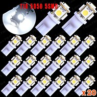 20x t10 5050 kil 5-smd super vit 6000K registreringsskylt innerbelysning 168 194