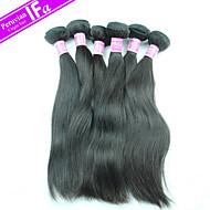 перуанский прямые 5шт наращивание волос / много девственница волос Remy ткет цвет 1b