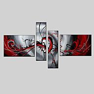 Dipinta a mano AstrattoModern / Stile europeo Quattro Pannelli Tela Hang-Dipinto ad olio For Decorazioni per la casa