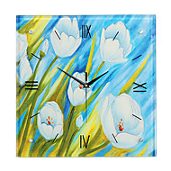 Modern Style Creative Painting Holland Summer Morning Mute Wall Clock