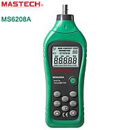 MASTECH-ms6208a- contato tacômetro linha medidor de velocidade tacômetro com luz de fundo + armazenamento de dados