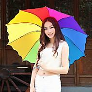 mode nylons / metal halvfjerds procent off flerfarvet paraply moderne / nutidig / afslappet (farve tilfældig)