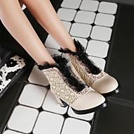 Chaussures Femme - Extérieure / Bureau & Travail / Décontracté - Noir / Rouge / Blanc / Beige - Gros Talon - Rangers / Bout Arrondi -