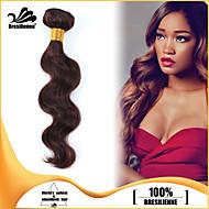 4st / lot jungfru människohår väver vågigt hår väft brasilianskt hår buntar chokladbrun brasiliansk människohår väver
