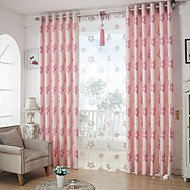 Two Panels European Contracted Fashion Bedroom Floral Curtains