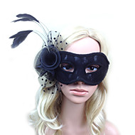 Women's Lace / Feather Headpiece - Wedding / Special Occasion Masks