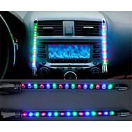 2x auto LED blauw / kleurrijke Sound Control muziek lichte auto lading binnenverlichting 12v gloed decoratieve sfeer lamp