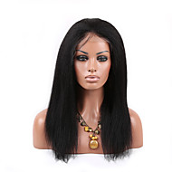 Fashion 16 Inch Indian Remy Hair Kinky Curly Full Lace Wigs