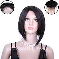 8A Grade Premierwigs 8'' Indian Remy Bob Straight Silk Base Lace Front Wigs With Baby Hair For Black Women