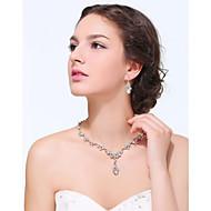 Conjunto de jóias Strass / Zircônia Cubica Dourado / Liga Mulheres