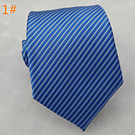 Men's Classic Fashion Striped Microfibre Woven Necktie 8 colours available