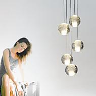 umei™ダイニングルーム用クリスタルメッキ現代のペンダントライトペンダントランプ5が点灯G4 retroifitクロムは、光を階段