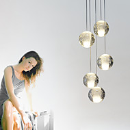umei ™ moderne anheng lys taklampe 5 lys g4 retroifit krom plating krystall for spisestue trapper lys