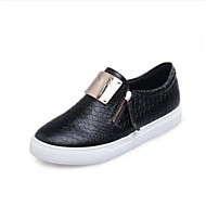 Women's Shoes Low Heel Round Toe Loafers Casual Black/White