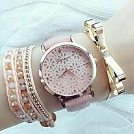 Женские Модные часы Кварцевый PU Группа Черный Белый Розовый