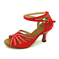 Customizable Women's Dance Shoes Latin/Dance Sneakers/Modern/Salsa Leatherette Customized Heel Blue/Red/Other