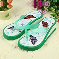 Women's Shoes PVC Flat Heel Flip Flops Slippers Outdoor Black / Yellow / Green / Pink