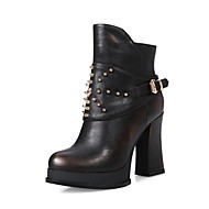 Women's Shoes  Chunky Heel Fashion Boots Boots Party & Evening/Dress Silver/Gold