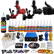 Solong Tattoo Complete Tattoo Kit 2 Pro Machine s 14 Inks Power Supply Needle Grips