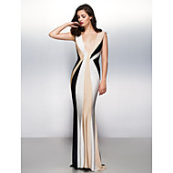 TS Couture® Formal Evening Dress Trumpet / Mermaid V-neck Sweep / Brush Train Jersey with