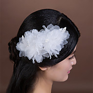Women's/Flower Girl's Lace/Imitation Pearl/Chiffon Headpiece - Wedding/Special Occasion Flowers 1 Piece