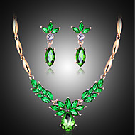 May Polly  The explosion of natural freshwater pearls Shamrock Necklace Earrings Set