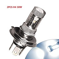 2 × 화이트 높은 전력 H4의 30w 주도 HB2 9003 자동차 DRL 안개 / 운전 빛 램프 12V-24
