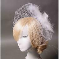 Voile de cage à oiseaux Casque Mariage / Occasion spéciale / Casual Plume / Tulle Femme Mariage / Occasion spéciale / Casual 1 Pièce