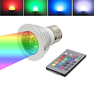 Commandée à Distance Spot , E26/E27 3 W SMD 5050 LM RGB AC 85-265 V